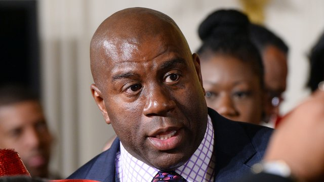 Magic Johnson says LA Clippers owner Donald Sterling should lose team