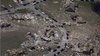 A residential neighbourhood is destroyed by a tornado near Vilonia, Arkansas, on 28 April 2014.