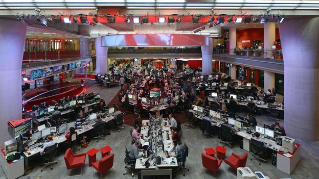 BBC Newsroom at New Broadcasting House