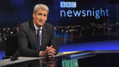 Newsnight presenter Jeremy Paxman