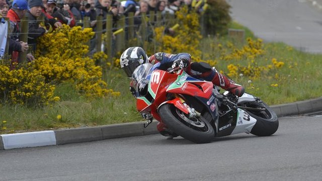 Michael Dunlop in action at Cookstown