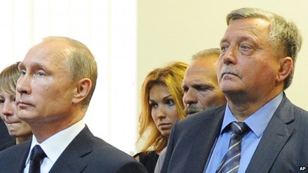 President Putin (left) with businessman and billionaire Arkady Rotenberg