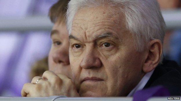 Russian businessman Gennady Timchenko attends the 2014 Sochi Winter Olympic Games