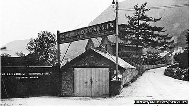 The old Dolgarrog Aluminium works