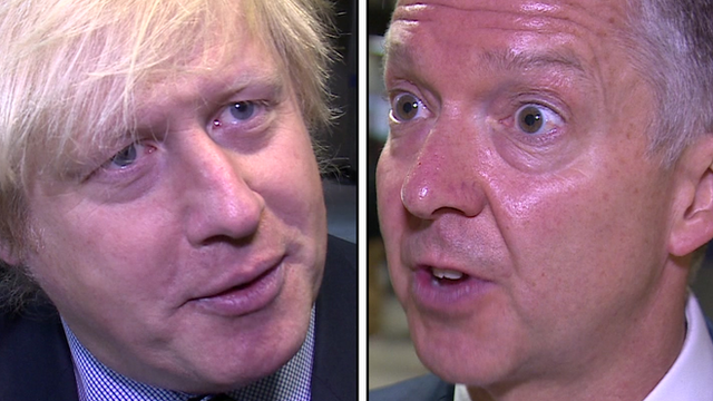 Boris Johnson and Mike Brown