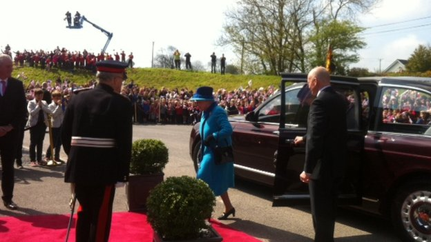 Queen at Princes Gate