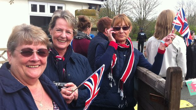 Wellwishers prepare for the Queen's visit to Cotts Farm Equine Hospital