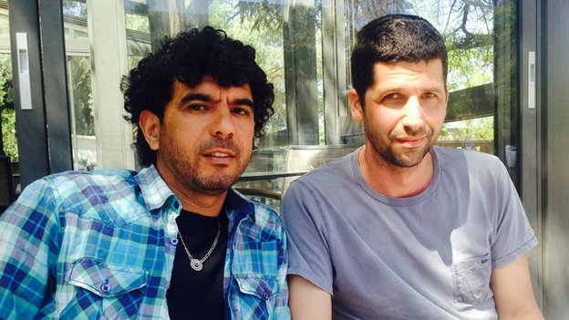 Sulaiman Khatib (left) and Avner Wishnitzer