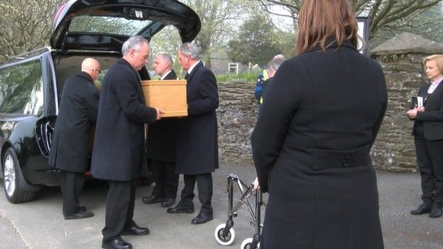 Funeral for unidentified body