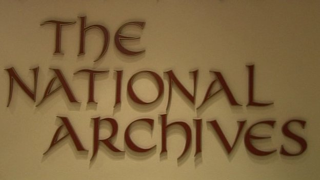 National Archives of Ireland sign