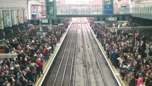 Commuters at Earls Court
