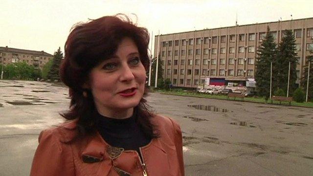 A resident of Sloviansk