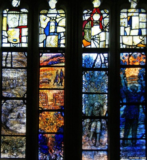 Lights 5-8 of Ivor Gurney window