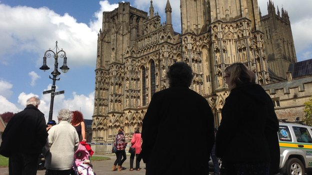 Rescue at Wells Cathedral