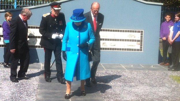 Queen at Pembroke Dock