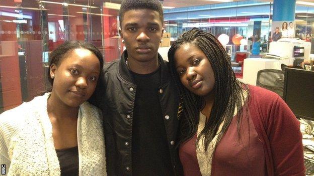 Makinka's children: Debbie, Debby and Diana