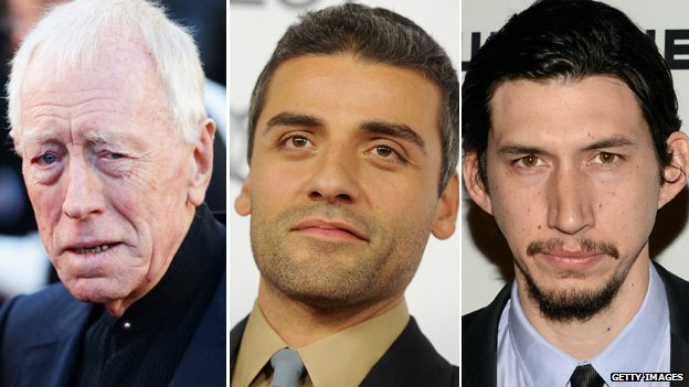Max von Sydow, Oscar Isaac and Adam Driver
