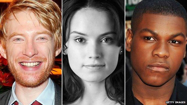 Domhnall Gleeson, Daisy Ridley, John Boyega