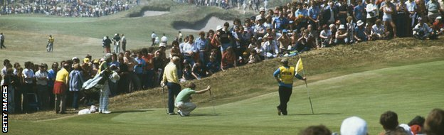 Jack Nicklaus and Tom Watson at Turnberry in 1977