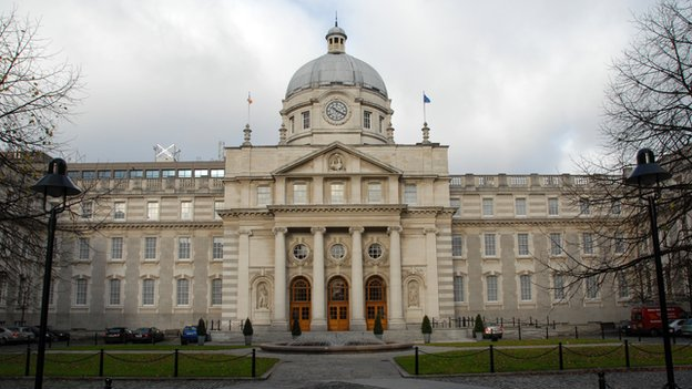 The main entrance of Leinster House