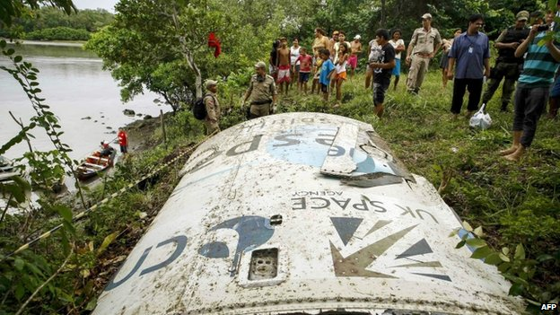 Space debris in Brazil's Amazon region