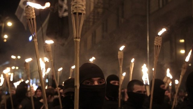 Ukrainian nationalists attempt to march