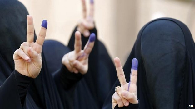 Women voters in Baghdad, 30 April