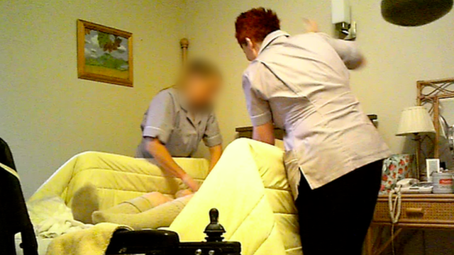 Panorama secret filming revealed The Old Deanery resident, Joan Maddison, was slapped