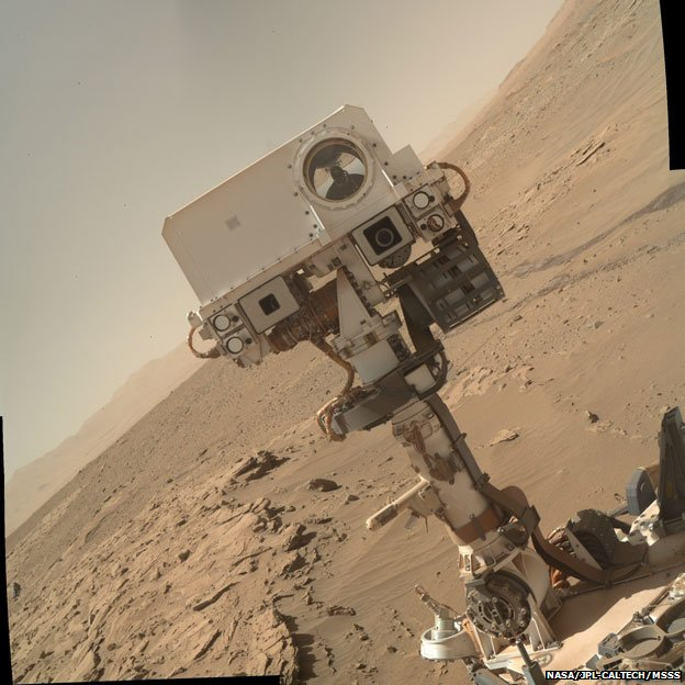 camera used to picture the hole produced this  quot selfie quot  a few days agoMars Curiosity Selfie