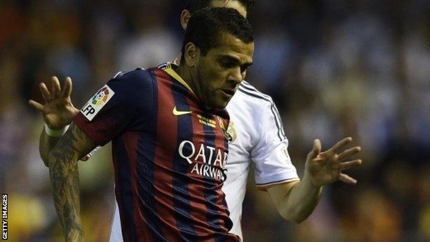 Barcelona's Dani Alves