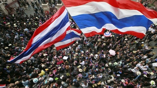 File photo protests in Thailand