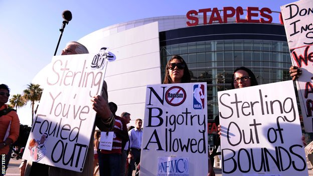 Protests against Sterling were held ahead of Tuesday's game