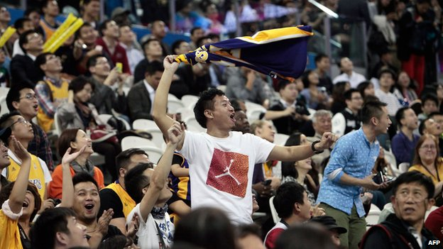 File photo: Chinese fans of the NBA in Shanghai