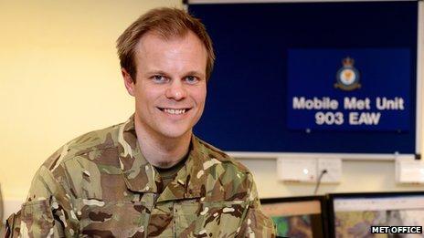 Simon King in uniform
