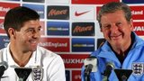 England captain Steven Gerrard and manager Roy Hodgson