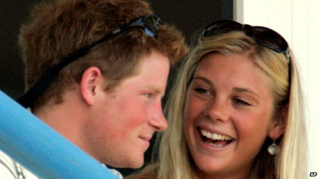 Prince Harry and former girlfriend Chelsy Davy in April 2007