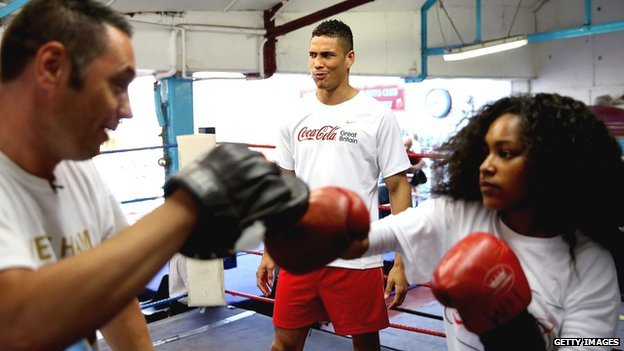 Anthony Ogogo joins teenagers from East London to take part in a boxing training session run by  StreetGames  and Coca-Cola