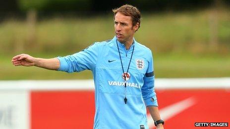 England U-21 coach Gareth Southgate