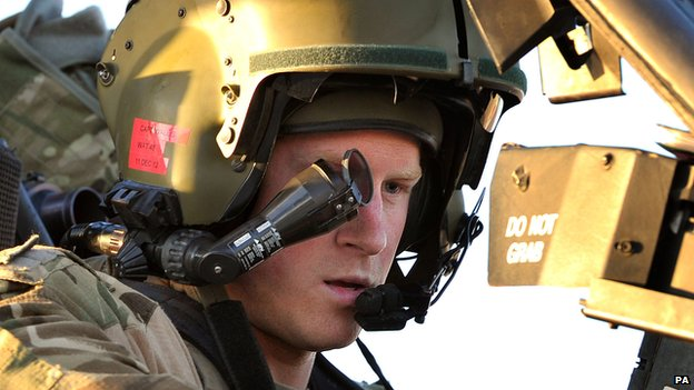 Prince Harry in Afghanistan in November 2012