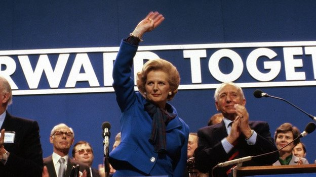 Margaret Thatcher at the 1980 Tory conference