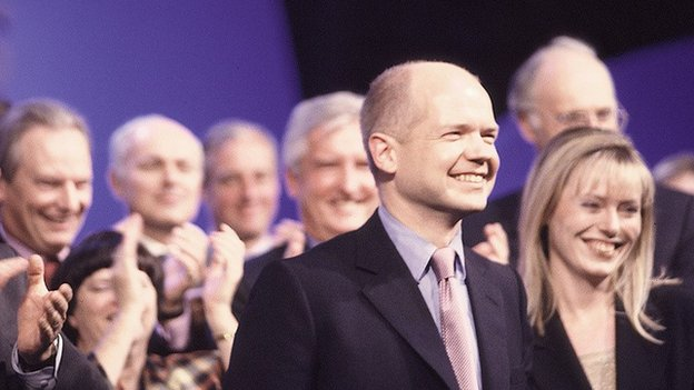 William and Ffion Hague at 1999 Tory conference