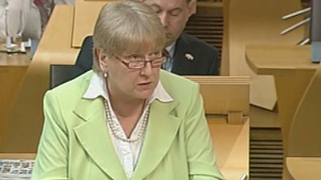 The Scottish Conservative Party's constitutional spokeswoman Annabel Goldie MSP