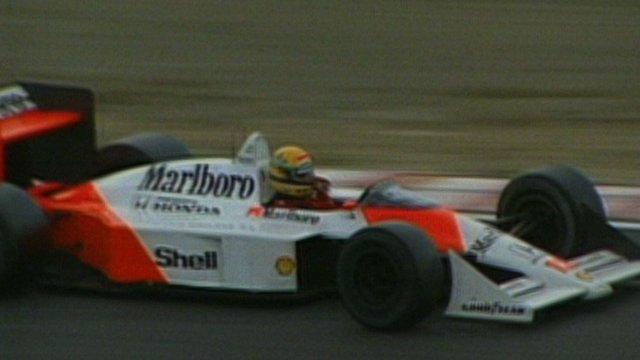 Ayrton Senna clinches first F1 title at Suzuka