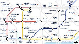 Disrupted Tube map