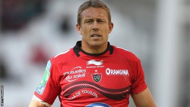 Toulon's Jonny Wilkinson