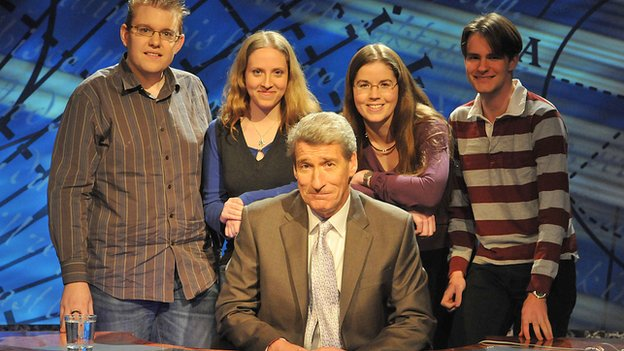 Jeremy Paxman on University Challenge in 2009