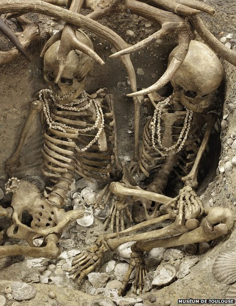 These young Mesolithic women from Teviec, Brittany, were brutally murdered. As sea levels rose competition for resources may have intensified