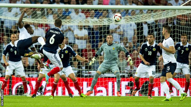 Scotland lost 3-2 at Wembley last year