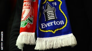 Liverpool and Everton scarves