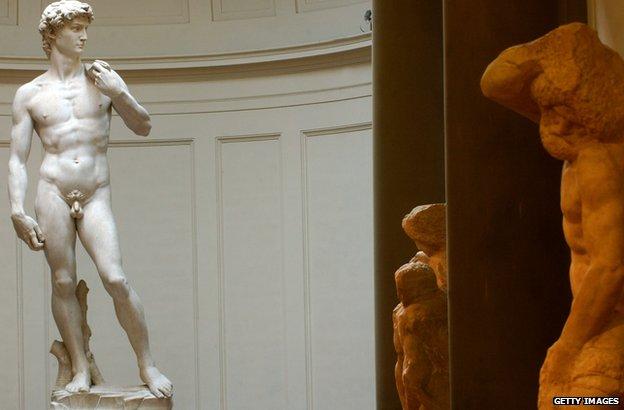 Michelangelo's statue of David
